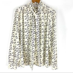 Vintage Scarf Blouse by Personal size 12